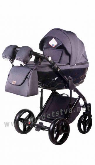 Универсальная коляска 2в1 Adamex Chantal C201 графитовый