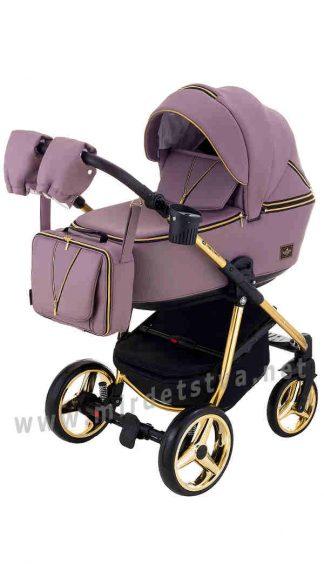 Универсальная коляска 2в1 Adamex Sierra Polar Gold SR332A кожа