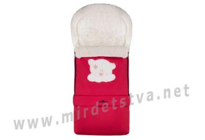 Зимний конверт с удлинением №20 Qvatro красный Мишка