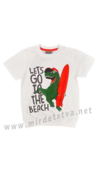 Белая футболка Cegisa 9584 с динозавром