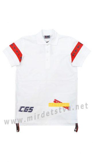 Белая футболка поло Cegisa 9567 для мальчика
