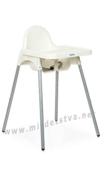 Белый стульчик для малыша Bambi M 4209 White