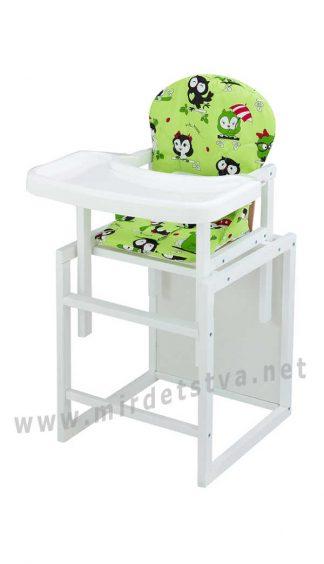 Белый стульчик-трансформер Пони-240 пластиковая столешница