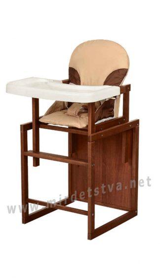 Бежевый стульчик для кормления Bambi CH-D5