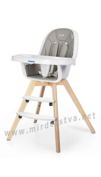 Деревянный и удобный стульчик EL CAMINO ME 1050 Organic Gray