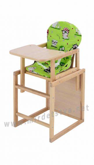 Деревянный стульчик для кормления Карапуз-100 еко