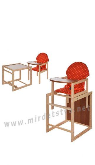 Деревянный стульчик для кормления Vivast M V-002-21