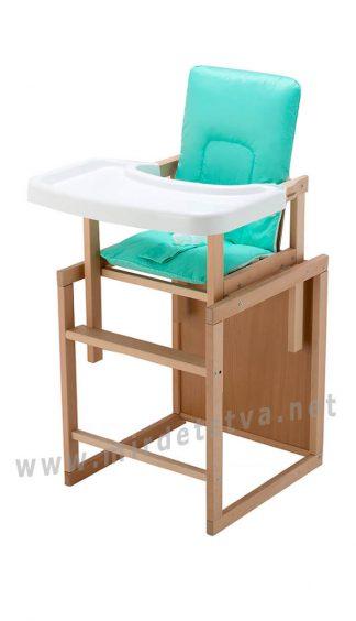 Деревянный стульчик для кормления малыша Бук-01 ECO