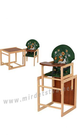 Деревянный стульчик зеленого цвета Vivast М V-010-22-6