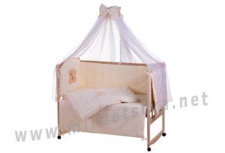 Детская постель Qvatro Ellite AE-08 мордочка мишка штопанная