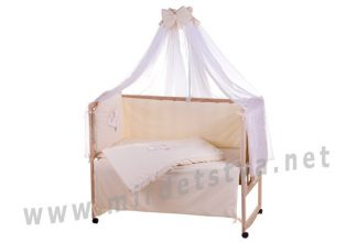 Детский комплект в кроватку Qvatro Ellite AE-08 мишка