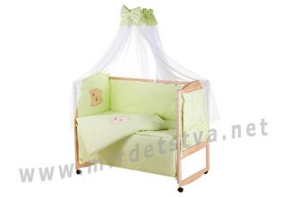 Детский комплект в кроватку Qvatro Gold AG-08 салатовый