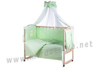 Детский постельный комплект Qvatro Ellite AE-08 аппликация салатовый