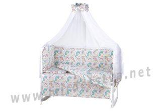 Детский постельный комплект в кроватку Comfort 08 unicorn