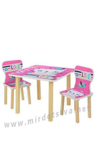 Детский стол и стулья для девочки Bambi 508-58-1