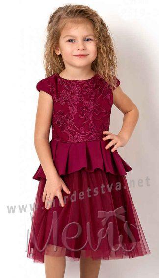 Детское красивое платье для девочки Mevis 2619-01