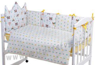 Детское постельное в кроватку Classic Bortiki 01 лиса енот