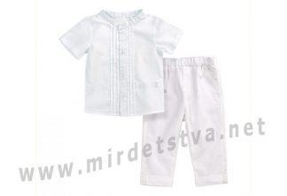 Комплект Бемби КП225 белого цвета для мальчика