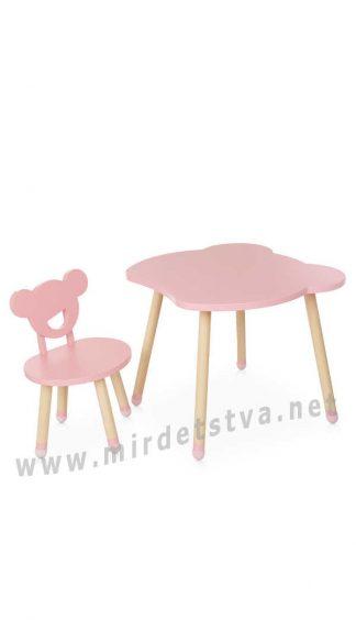 Комплект детской мебели для девочки Bambi M 4255 Bear Pink