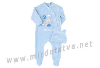Комплект для мальчика голубого цвета Бемби КП232