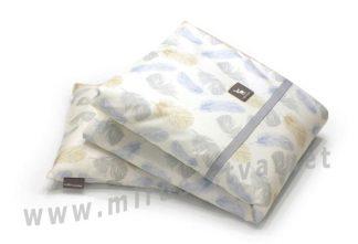 Комплект одеяло и подушка Cottonmoose DKPW 323/83 leaf blue cotton