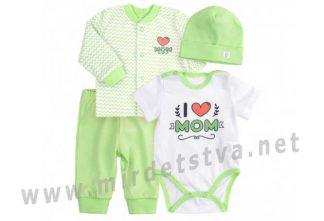 Комплект зеленого цвета для малыша Бемби КП220