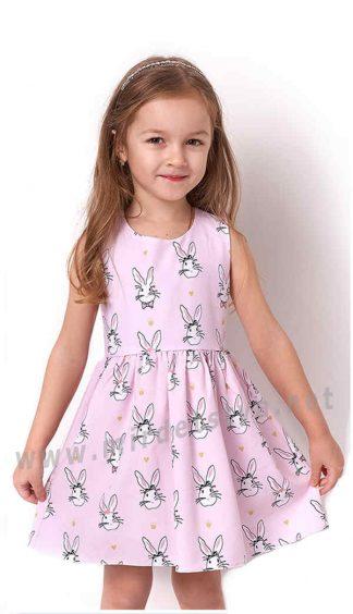 Легкое летнее розовое платье Mevis 3263-01