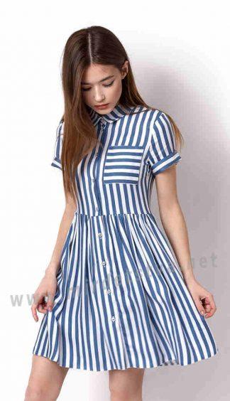 Летнее платье из хлопка Mevis 3329-03