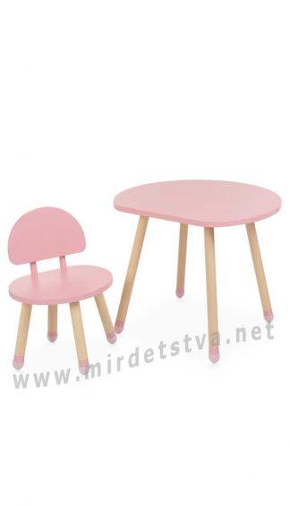 Милый комплект детской мебели Bambi M 4254 Mushroom Pink