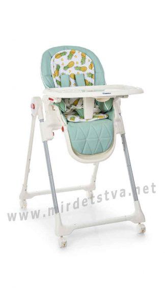 Милый стульчик для кормления EL CAMINO ME 1037 Crystal Pineapple Mint