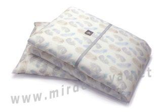 Одеяло с подушкой Cottonmoose DKP 309/83 перья голубые