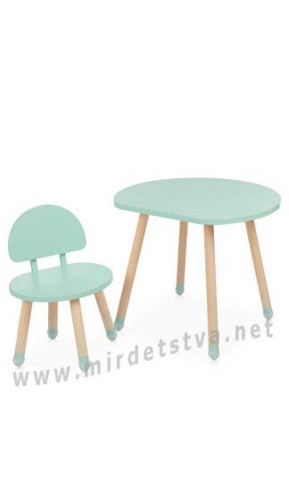 Один стул и столик Bambi M 4254 Mushroom Mint