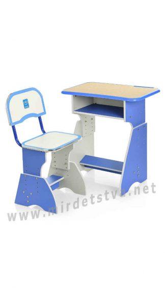 Парта и стул для мальчика голубого цвета Bambi HB-2029K-4
