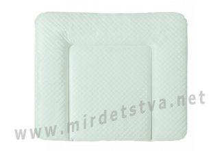 Пеленальный матрас Ceba Baby Caro 85×72 см мятный