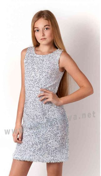 Подростковое нарядное платье с пайетками Mevis 3251-01