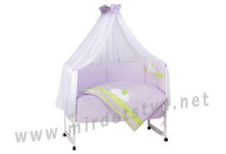 Постельный комплект в кроватку Tuttolina Sleeping Cat 65