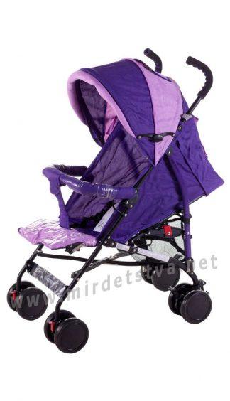 Прогулочная коляска Quatro Mini №9 трость фиолетовая