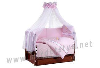 Розовая детская постель Tuttolina Forever Together 37