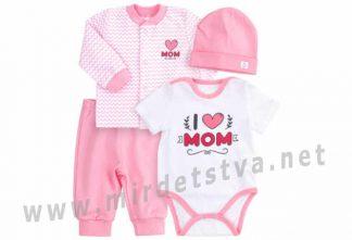 Розовый комплект для девочки Бемби КП220