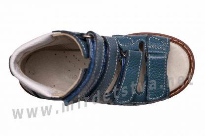 Синие кожаные сандалии с высоким жестким задником 4Rest Orto 06-190