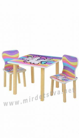 Столик и два стула для занятий Bambi 508-66