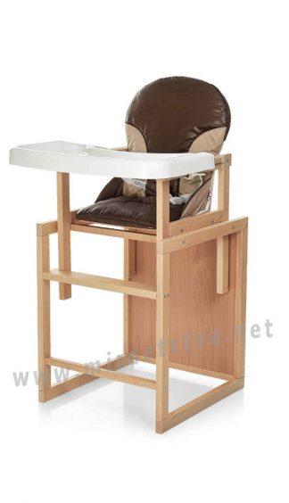Стульчик для кормления кофейный Bambi CH-L4