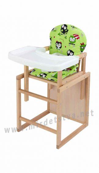 Стульчик столик для кормления Пони-230 еко без лака