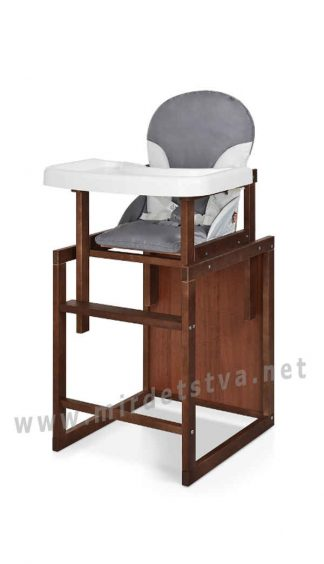 Удобный серый стул-трансформер Bambi CH-D6