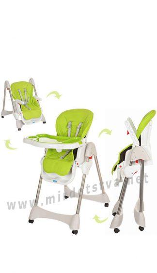 Зеленый стульчик для кормления Bambi M 3216-2-5