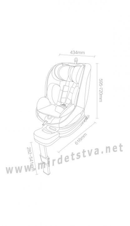 Автокресло для малыша Xiaomi Qborn I-size rotating QQ129KX