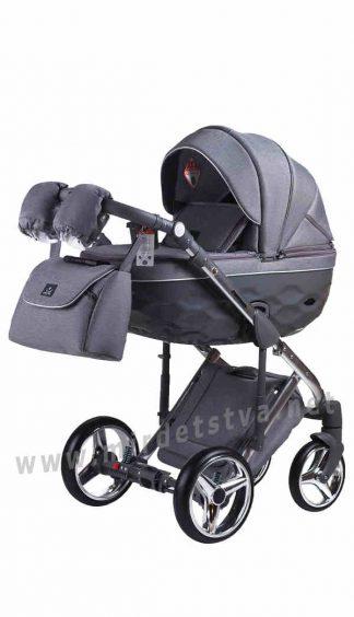 Детская прогулочная коляска Adamex 2в1 Chantal Polar (Chrome) C4