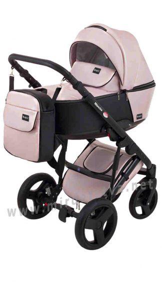 Коляска прогулочная Bair Mirello Plus MP-02 кожа розовый