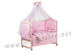Комплект в кроватку Qvatro Gold GR-08 для девочек