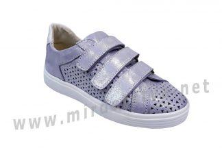 Кожаные кроссовки на липучках Jordan 7033 для девочки